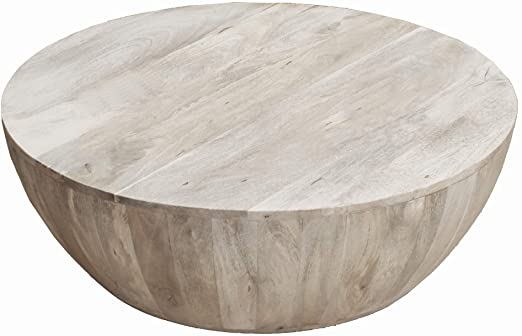 Amazon.com: The Urban Port Distressed Mango Wood Coffee Table in .