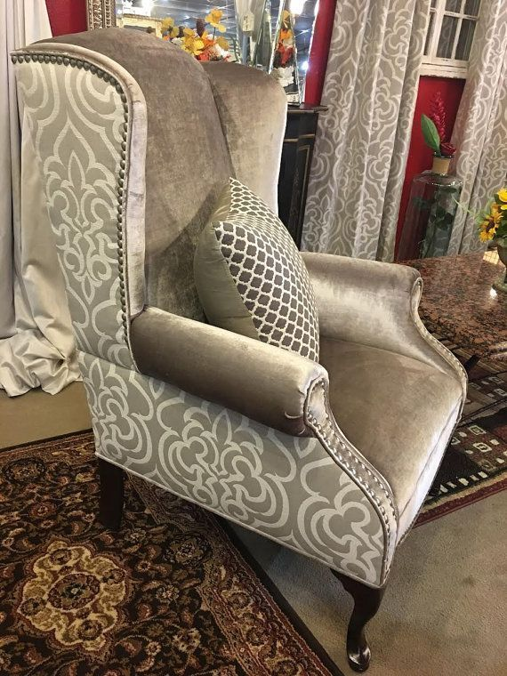 Related image #WingbackChair | Wing chair upholstery, Reupholster .