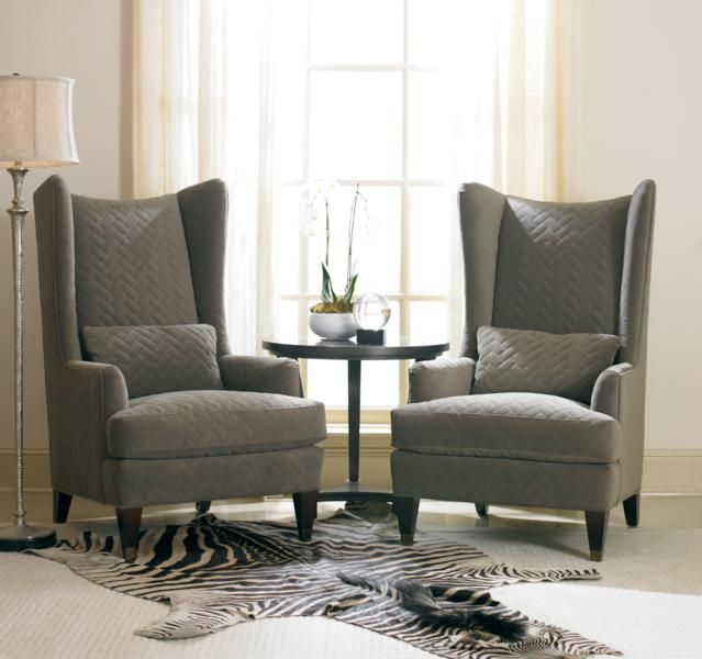 Pin by Karimah Lamar on Wingback chairs | Modern furniture living .