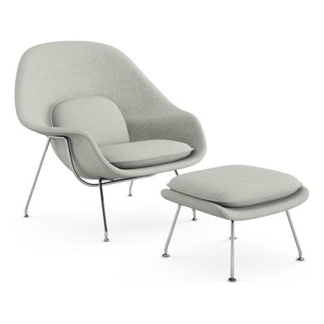 Knoll Saarinen Womb Chair and Ottoman - 2Mode