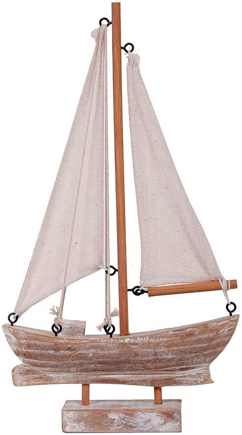Amazon.com: YK Decor Wood Boat Nautical Themed Home Decorating Toy .