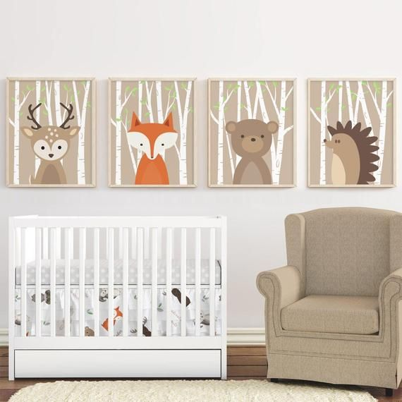 Woodland Nursery Decor Woodland Animals Nursery Wall Art Forest .