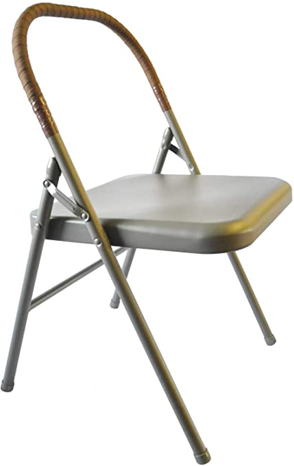 Amazon.com : Pune Yoga Chair - Tan Chair with Brown Wrap : Sports .