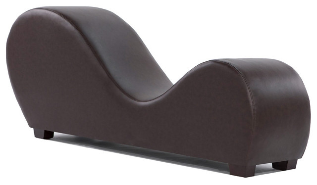 Modern Bonded Leather Yoga Chair Stretching Relaxation Chaise .