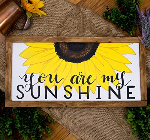 Amazon.com: You are my sunshine sign, Sunflower wall art for .